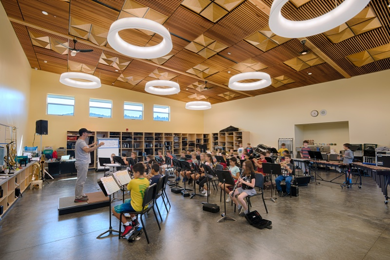 Kent Middle School Music Classroom