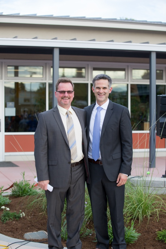 Principal Halliday and Superintendent Vanden Heuvel